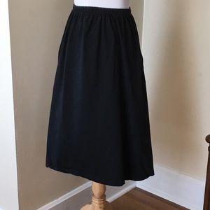 Size L All Points Black Elastic Waist Skirt